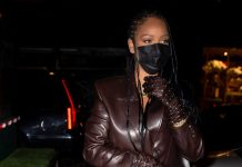 Rihanna's Going-Out Look Included A Leather Blazer & Sheer Pants
