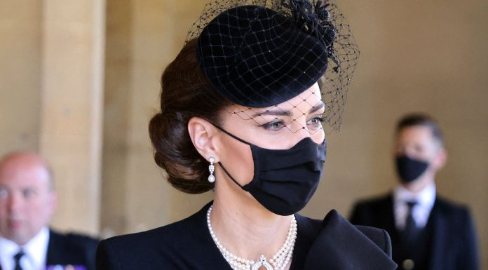 Kate Middleton's Jewelry At Prince Philip's Funeral Honored The Queen & Princess Diana